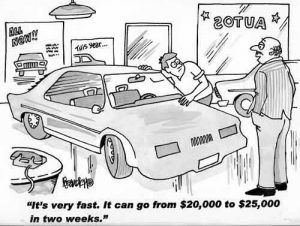 Car cartoon 300x226 3 Ways To Boost Used Vehicle Profitability While Selling More Cars