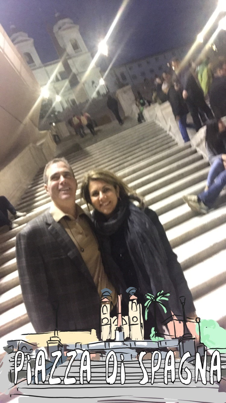 Spanish Steps Nancy and Dale